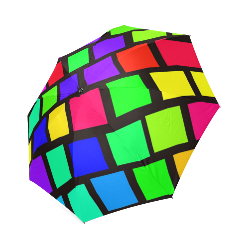 colorful checkered Foldable Umbrella (Model U01)