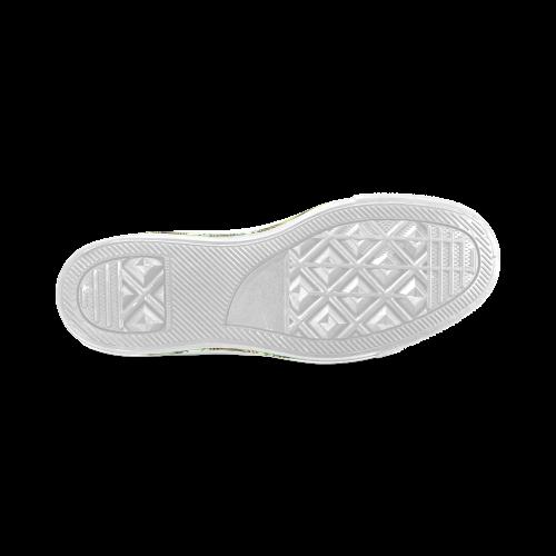 Mandy Green - bubbles dark Women's Classic High Top Canvas Shoes (Model 017)