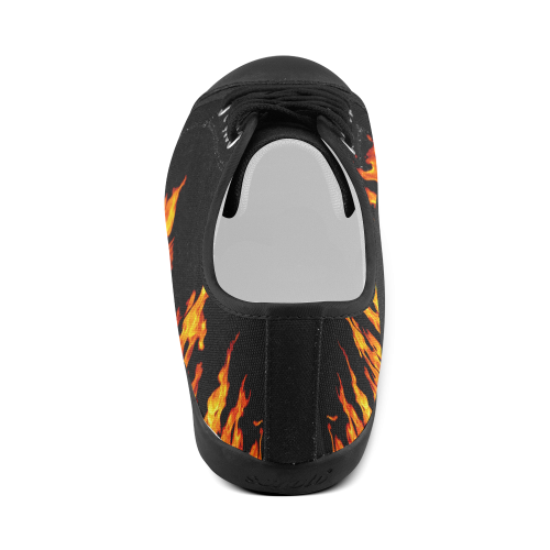 Fire Flames Men's Canvas Shoes (Model 016)