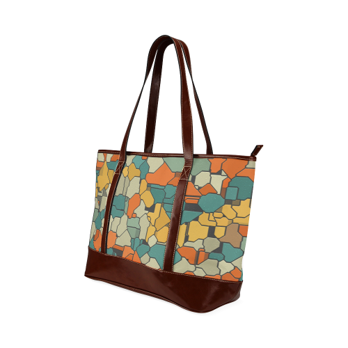 Textured retro shapes Tote Handbag (Model 1642)