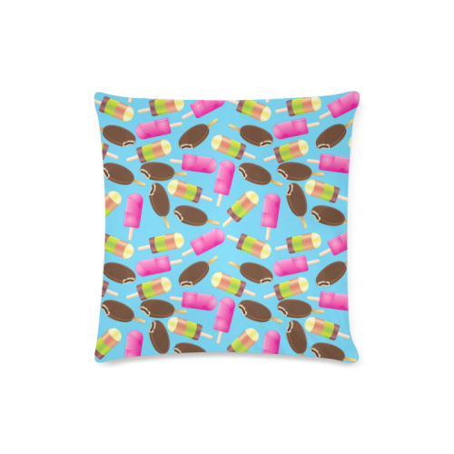 "icecream Custom Zippered Pillow Case 16""x16""(Twin Sides)"