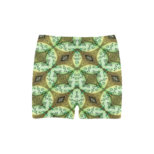 Mandy Green - bubbles dark Briseis Skinny Shorts (Model L04)