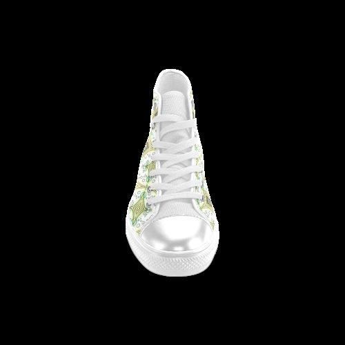 Mandy Green - bubbles light Women's Classic High Top Canvas Shoes (Model 017)