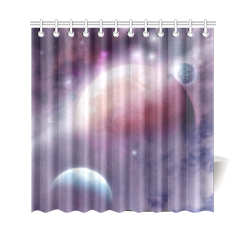 """Pink Space Dream Shower Curtain 69""""x70"""""""