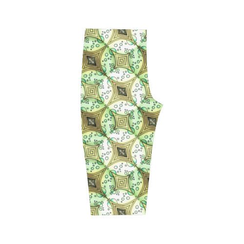 Mandy Green - light dark bubbles Hestia Cropped Leggings (Model L03)