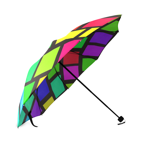 colorful checkered Foldable Umbrella