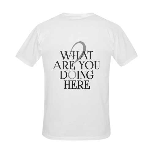 What are you doing here? Men's Slim Fit T-shirt (Model T13)