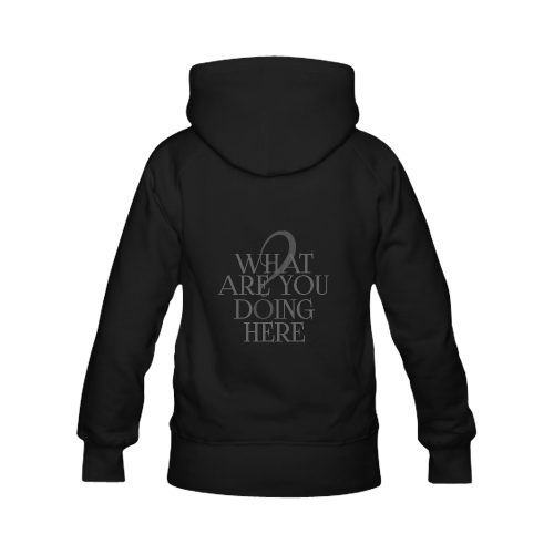 What are you doing here? Black | Men's Classic Hoodies (Model H10)