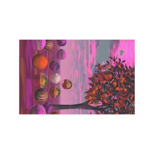"""Bittersweet Opinion, Abstract Raspberry Maple Tree Poster 11""""x17"""""""