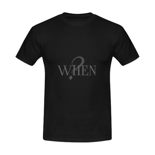 When? Black | Men's Slim Fit T-shirt (Model T13)