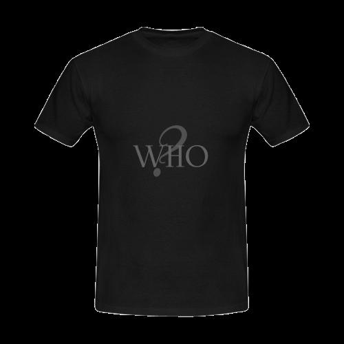 Who? Black   Men's Slim Fit T-shirt (Model T13)