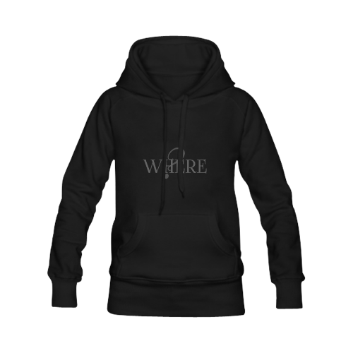 Where? Black | Women's Classic Hoodies (Model H07)