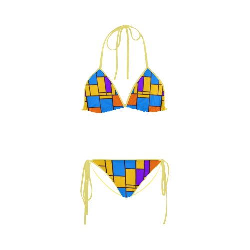 Shapes in retro colors Custom Bikini Swimsuit