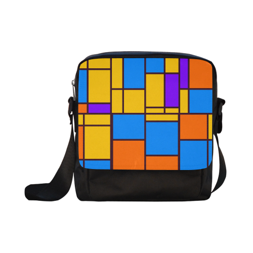 Shapes in retro colors Crossbody Nylon Bags (Model 1633)