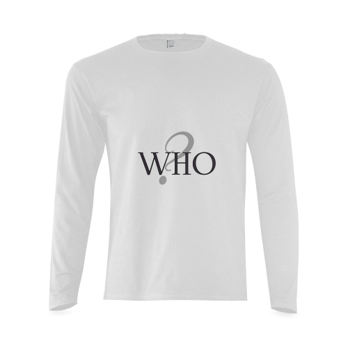 Who? Sunny Men's T-shirt (long-sleeve) (Model T08)