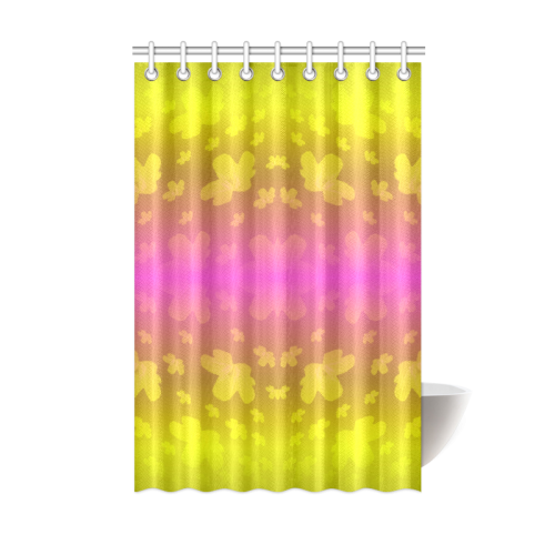 Pretty Flowers In Neon Shower Curtain