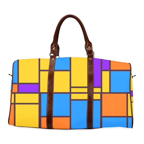 Shapes in retro colors Waterproof Travel Bag/Large (Model 1639)
