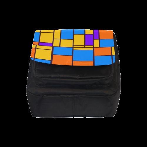 Shapes in retro colors Crossbody Nylon Bags (Model 1633)