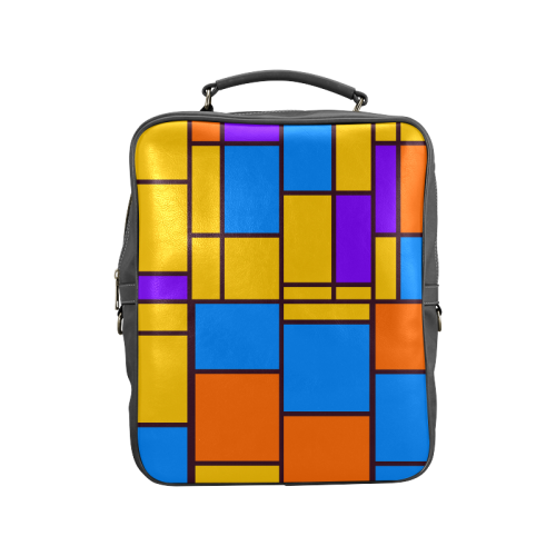 Shapes in retro colors Square Backpack (Model 1618)