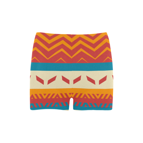 Tribal shapes Briseis Skinny Shorts (Model L04)