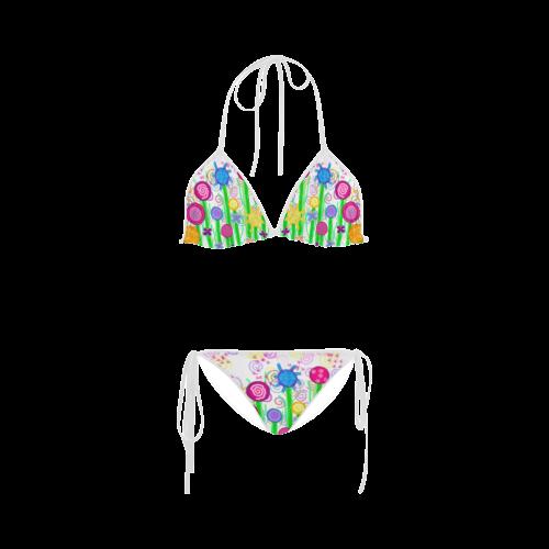 Magical Flowers Custom Bikini Swimsuit