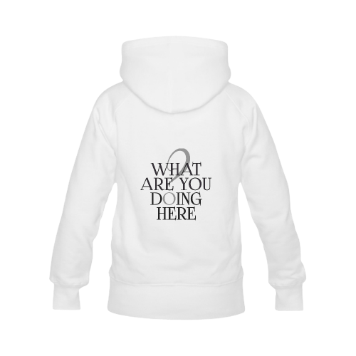 What are you doing here? Women's Classic Hoodies (Model H07)