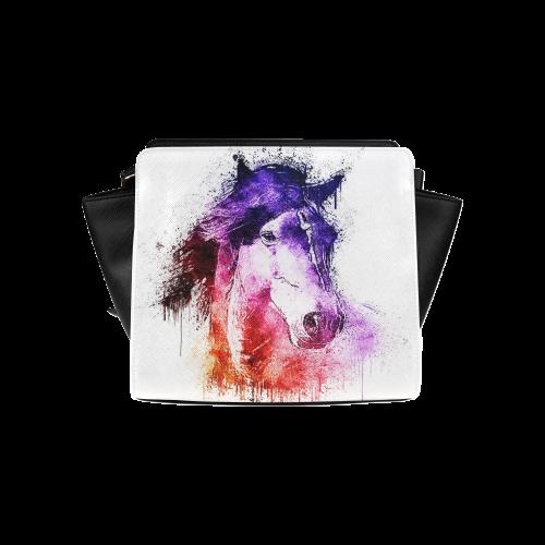 watercolor horse Satchel Bag (Model 1635)