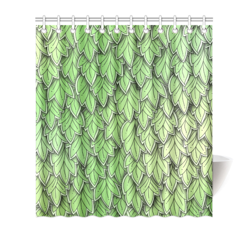 Mandy Green – hanging leaves shower curtain sizes