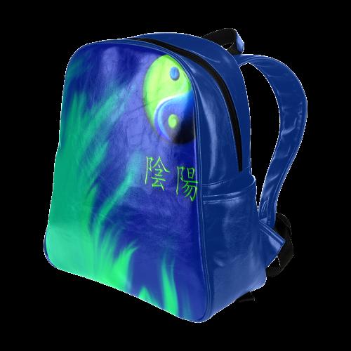 Yin Yang Multi-Pockets Backpack (Model 1636)
