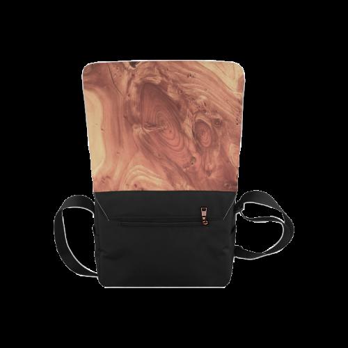 fantastic wood grain,brown Messenger Bag (Model 1628)