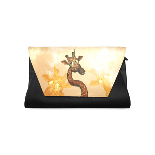 Funny unicorn giraffe Clutch Bag (Model 1630)