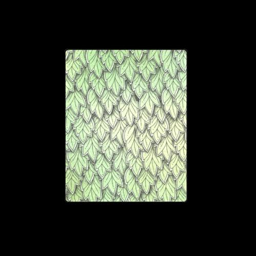 "Mandy Green hanging Leaves Pattern Blanket 40""x50"""