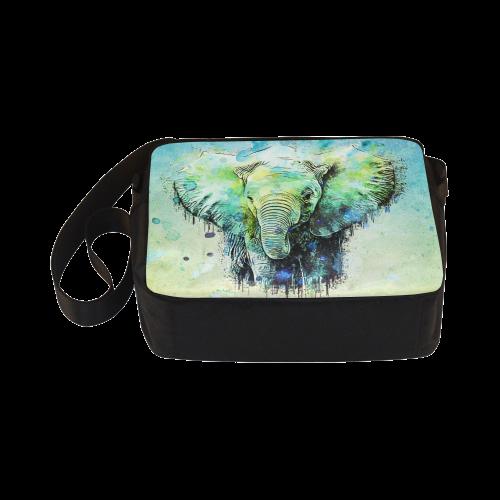 watercolor elephant Classic Cross-body Nylon Bags (Model 1632)