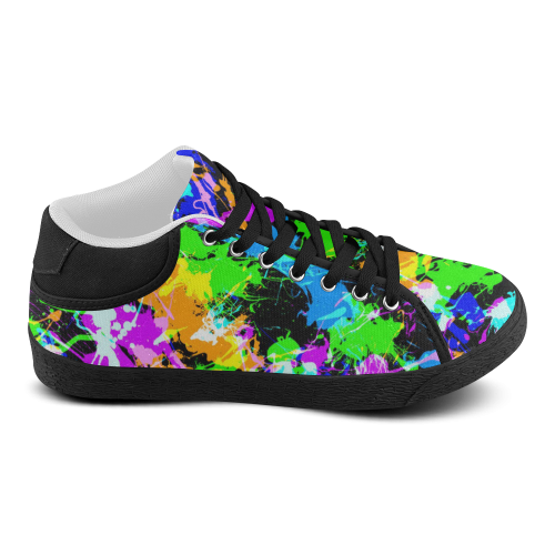 PAINT SPLASH Women's Chukka Canvas Shoes (Model 003)