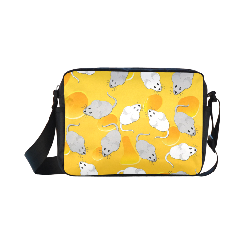 mice on cheese Classic Cross-body Nylon Bags (Model 1632)