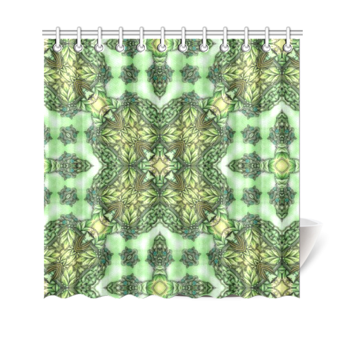 "Mandy Green - Forest Garden pattern 2 Shower Curtain 69""x70"""