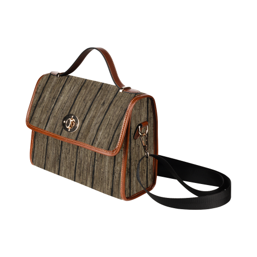 wooden planks Waterproof Canvas Bag/All Over Print (Model 1641)