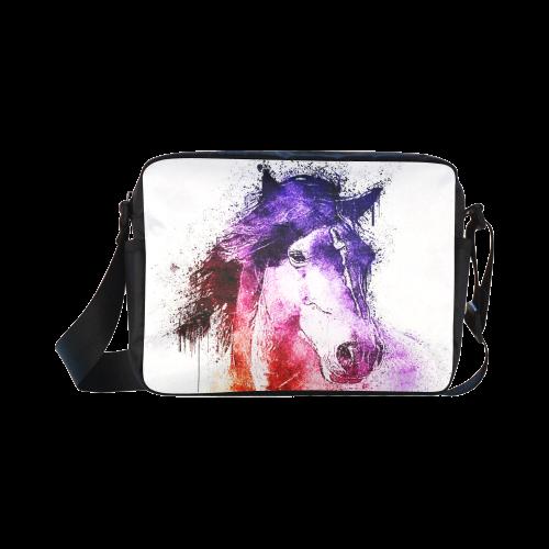 watercolor horse Classic Cross-body Nylon Bags (Model 1632)