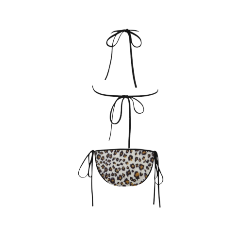 Leopard Print Custom Bikini Swimsuit