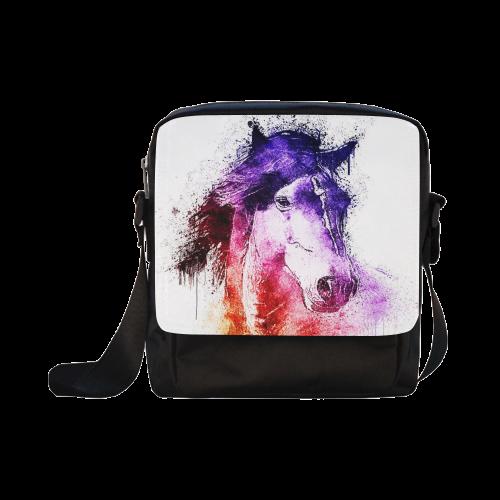 watercolor horse Crossbody Nylon Bags (Model 1633)