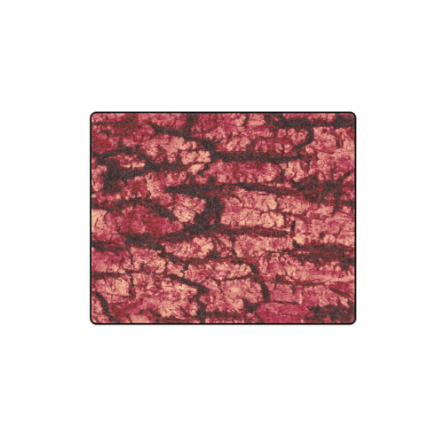 "tree bark structure red Blanket 40""x50"""
