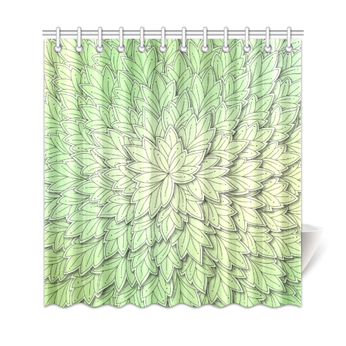 "Mandy Green floating Leaves Shower Curtain 69""x72"""