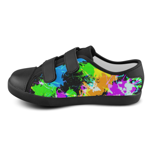 paint splash velcro canvas kid s shoes model 008 id