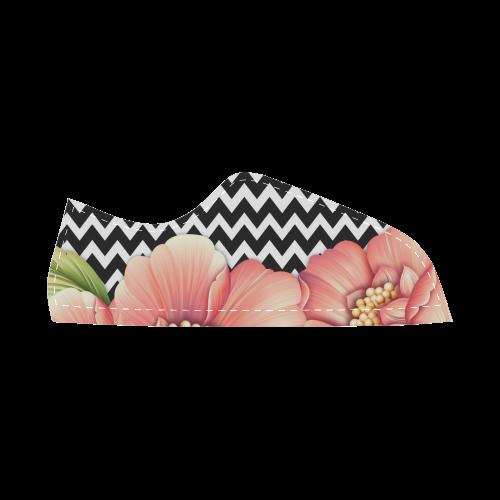 flower power Women's Canvas Shoes (Model 016)