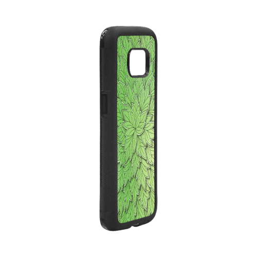 Mandy Green floating Leaves dark Rubber Case for Samsung Galaxy S7