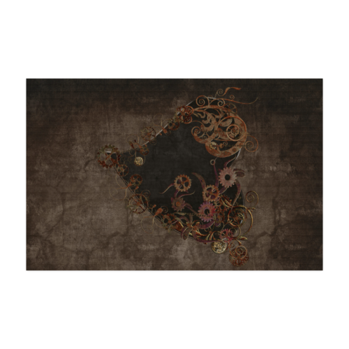 A decorated Steampunk Heart in brown Poster 22*34