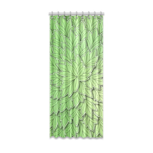 "Mandy Green floating Leaves dark Window Curtain 52"" x 120""(One Piece)"