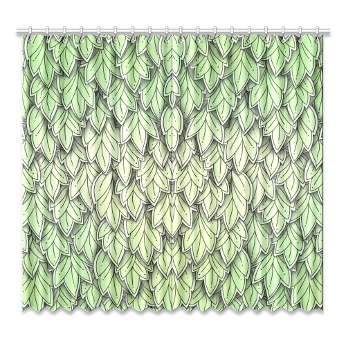 "Mandy Green hanging Leaves Pattern Window Curtain 52""x96""(Two Piece)"