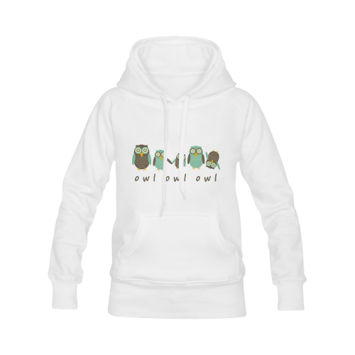 Energetic Owls Women's Classic Hoodies (Model H07)