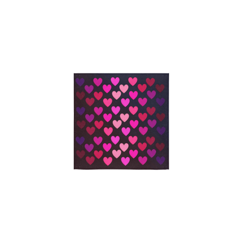 "hearts on fire-2 Square Towel 13""x13"""